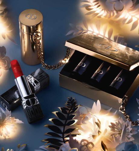 Dior - ルージュ ディオール <アトリエ オブ ドリームズ> (クリスマス コレクション 2021 数量限定品) クチュール カラー リップスティック - フローラル リップケア&持続する心地よさと発色 - 5 aria_openGallery