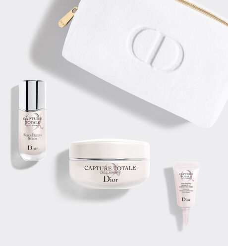 Dior - Coffret Capture Totale - Le Rituel de Soin Anti-Âge Global Coffret soin visage - 3 produits & 1 trousse - sérum anti-âge, crème visage & soin contour des yeux
