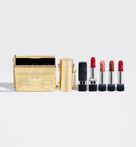Dior - DIOR藍星唇膏金緻珠寶盒 精緻鍊帶&口紅手拿包–限量唇膏