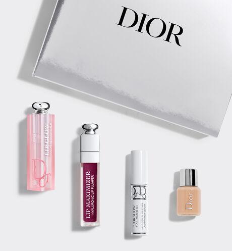 Dior - Cofre Dior Addict Glow Cofre de maquillaje - bálsamo labial, gloss, primer-sérum de máscara y base de maquillaje