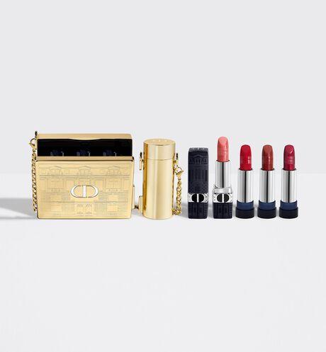 Dior - ルージュ ディオール ミノディエール (クリスマス コレクション 2021 数量限定品) ルージュ ディオール<アトリエ オブ ドリームズ>本体と3色のリフィルがセットされた特別なセット