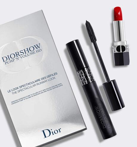 Dior - Diorshow Pump 'N' Volume HD Mascara and lipstick set - the spectacular runway look