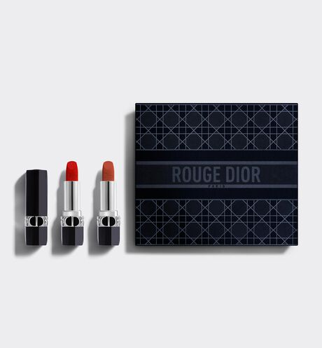 Dior - Rouge Dior Duo Collection Set Deluxe Collection - 2 Lipsticks - Couture Color & Floral Lip Care