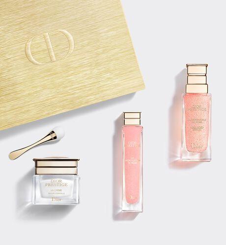 Dior - 디올 프레스티지 세트 강력한 리바이탈라이징 스킨케어 리추얼 3가지 스킨케어 제품으로 구성된 특별한 세트 - 마이크로 로션, 륄 드 로즈, 라 크렘므 & 어플리케이터