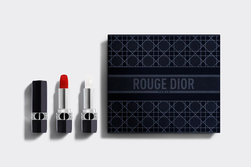 Dior - Rouge Dior Duo Collection Set Deluxe collection - 1 lipstick & 1 lip balm - couture color and floral lip care Open gallery