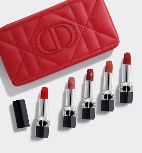 Dior - Rouge Dior Refillable lipstick collection - couture color & floral lip care - long wear