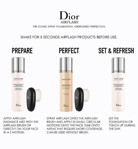 Dior - Dior Backstage Airflash Foundation Spray foundation - airbrushed radiance - 76 Open gallery