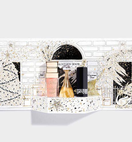 Dior - Dior Petit Théâtre Iconic trio - collector's case of 3 miniatures - j'adore eau de parfum, rouge dior lipstick, dior prestige la micro-huile de rose advanced serum