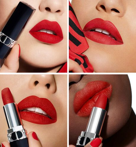 Dior - Rouge Dior Refillable lipstick with 4 couture finishes: satin, matte, metallic & new velvet - 14 Open gallery