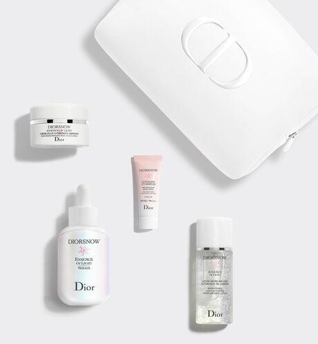Dior - 迪奧雪晶靈極亮光采精華組 4款透白保養品-透亮光采水凝露、極亮光采精華、透亮輕凝霜、潤色隔離亮妍霜