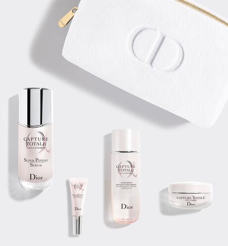 Dior - Capture Totale Coffret - Le Rituel de Soin Anti-Âge Global Coffret soin visage - 4 produits & 1 trousse - lotion visage, sérum anti-âge, crème visage & sérum contour des yeux