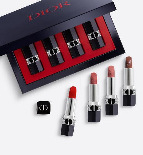 Dior - Rouge Dior Set Lip Makeup Set - Set of 4 Mini Lipsticks