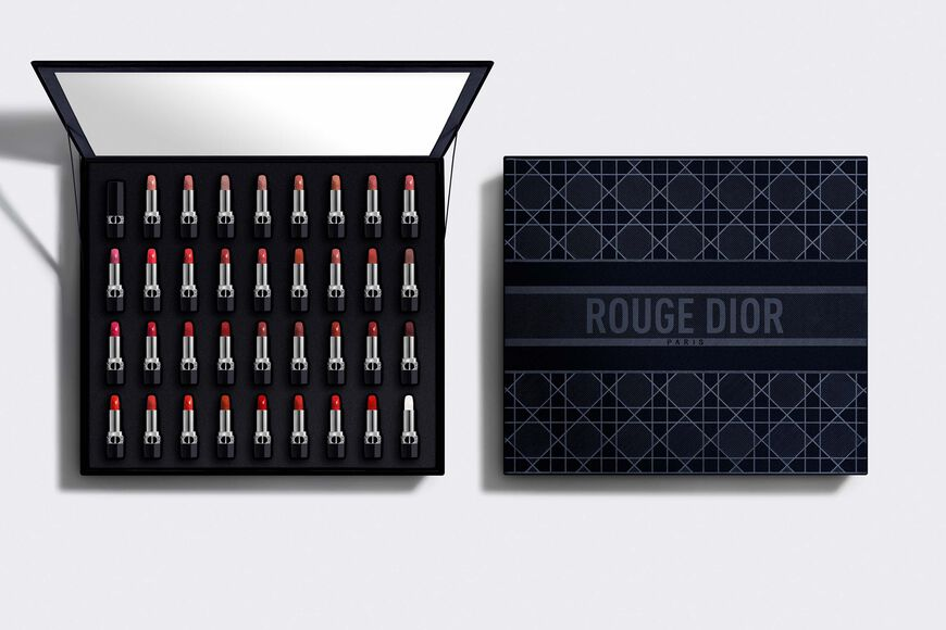 Dior - Collection Set 35 Rouge Dior Deluxe collection - 34 lipsticks and 1 lip balm - couture color and floral lip care Open gallery